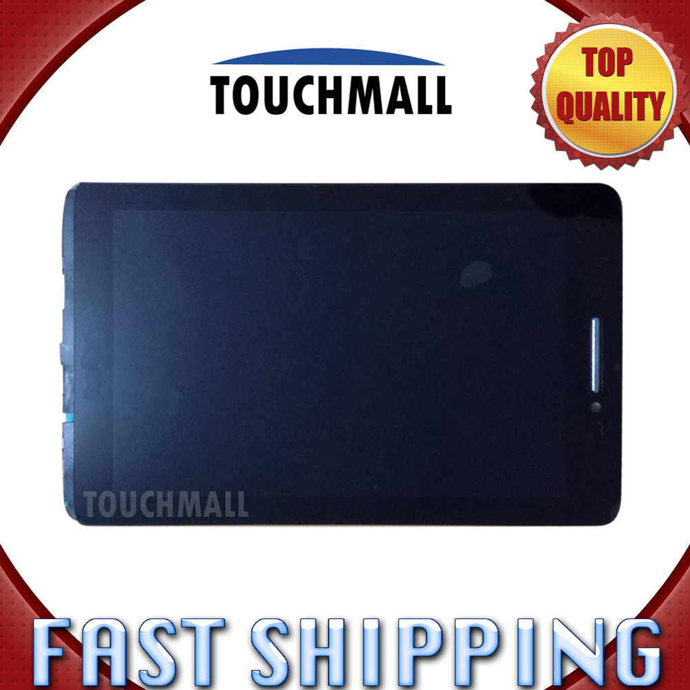 For New LCD Display Touch Screen with Frame Assembly Replacement Lenovo IdeaTab S5000 S5000-H S5000-F 7-inch Black Free Shipping vibe x2 lcd display touch screen panel with frame digitizer accessories for lenovo vibe x2 smartphone white free shipping track