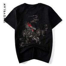 Harajuku God beast T Shirt Cartoon New 2018 Summer Hip Hop T-shirt Cotton Letter Print Top Tees embroidery Tshirt Streetwear