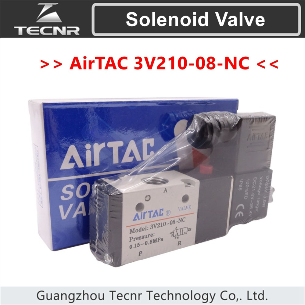 Airtec Solenoid Valve 3V210-08-NC 220V 24V Two Three Valve Normally Closed Magnetic Valve
