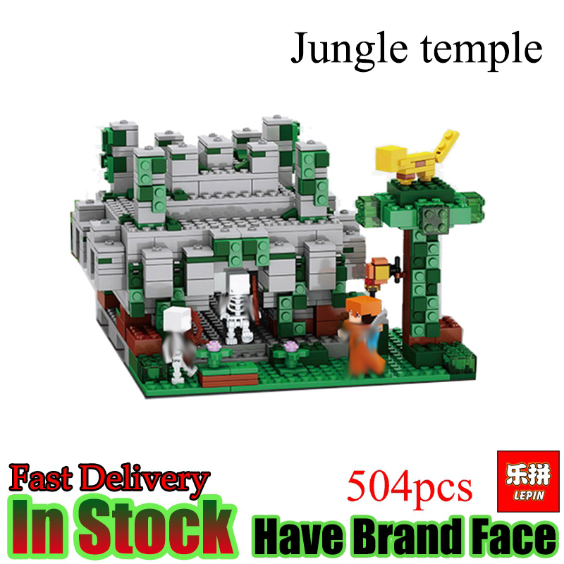 Lepin Minecraft 504pcs the Forest Secret My World figures Building Blocks Bricks Fun Castle House Toys For Children gifts