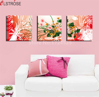 Modern Abstract 5 Pieces Flowers Canvas Painting Seaview Painting Pictures By Numbers For Living Room In
