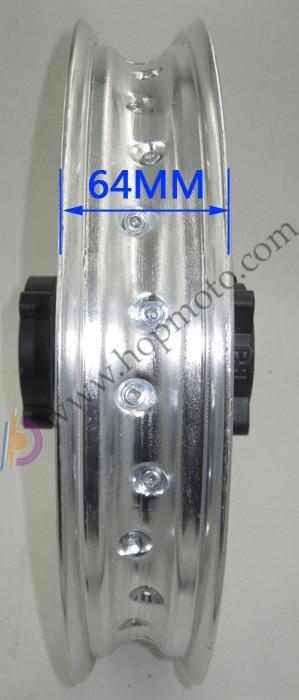 Задние диски 14 дюймов, диски из алюминиевого сплава, колесные диски 1,85x14 дюймов для китайского грязного велосипеда, колеса для велосипеда ямы, запасные части