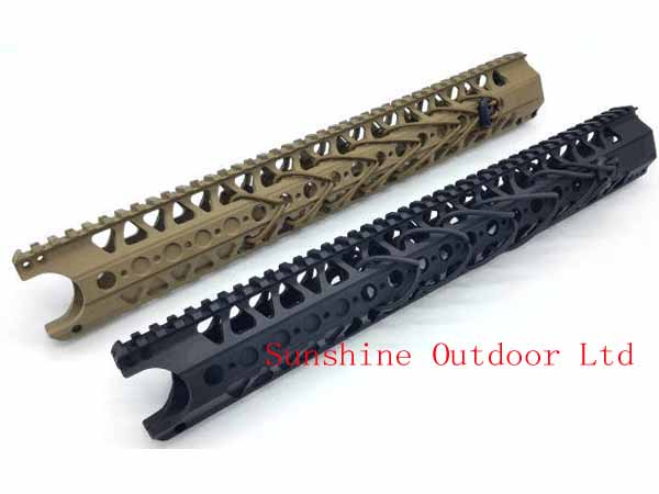 Picatinny Rail system 13.5 inch LVOA-C Aluminum handguard Rail Gun system for AEG airsoft M4/M16/AR-15 BK/DE-Free shipping 12 durable mil spec style matte finish lightweight aluminium handguard picatinny quad hunting shooting rail for aeg m4 m16 ar15