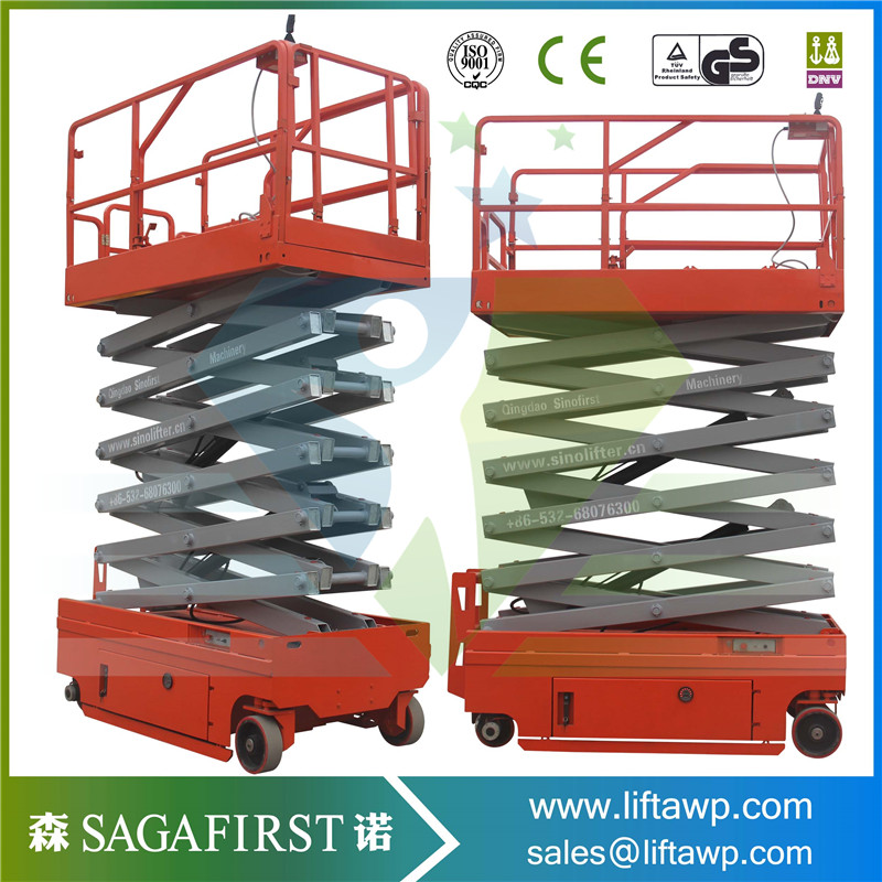 With CE 10m Self-Propelled Electric Scissor Lift Table