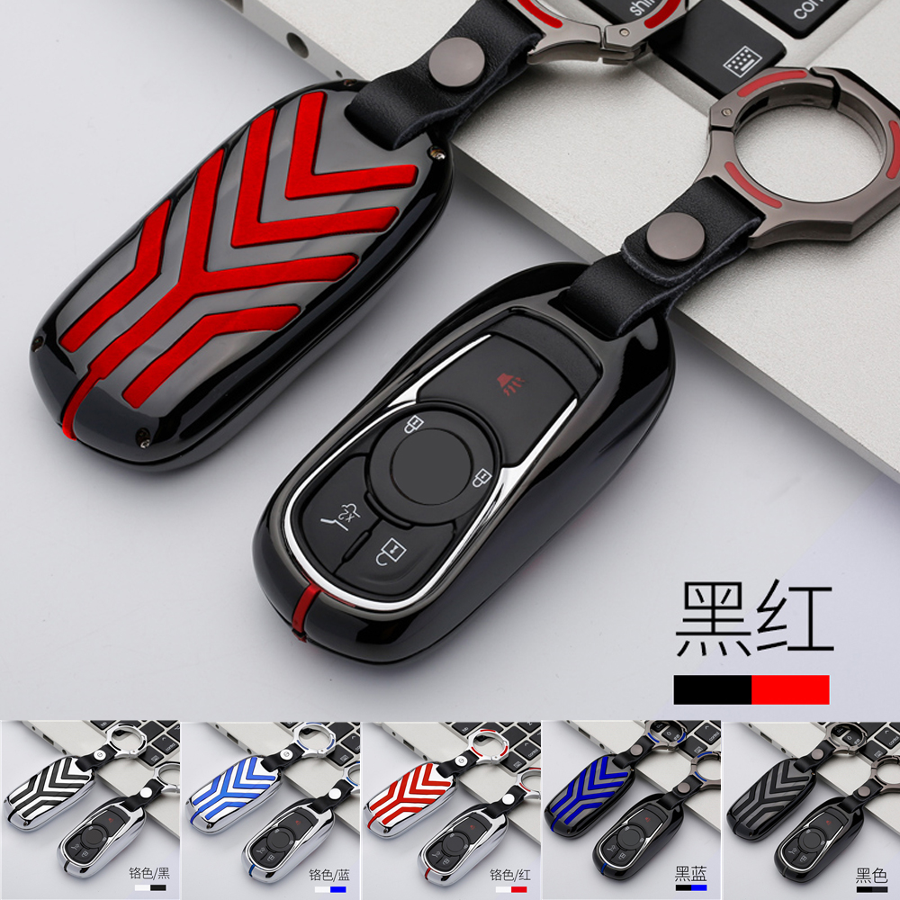 Alloy Key Holder Cover Case Chain For Buick Encore Envision New Lacrosse Enclave