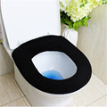 New Arrival Solid Black Color Cotton Bathroom Overcoat Toilet Seat Cover For O Ring Machine Made O Ring FF-1