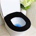 Nova Chegada Cor Sólida Preto de Algodão Sobretudo Cobrir Assento Do Vaso Sanitário Do Banheiro Para O Anel Máquina Feita Anel O FF-1