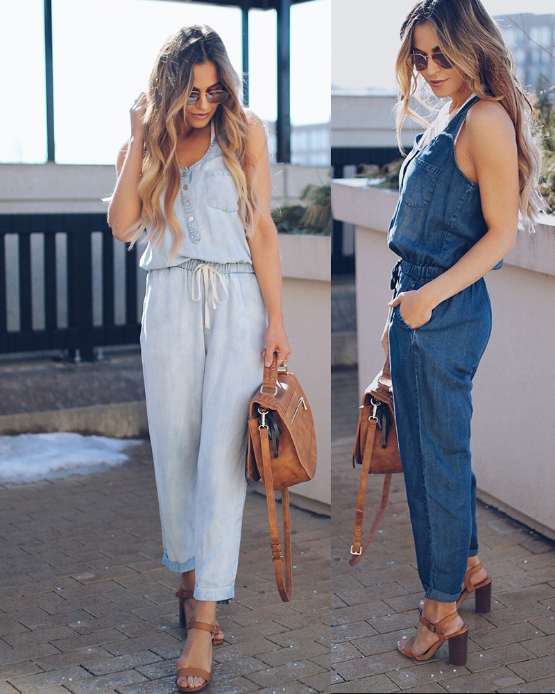 Women Sleeveless Cowboy Clothes 2018 Summer