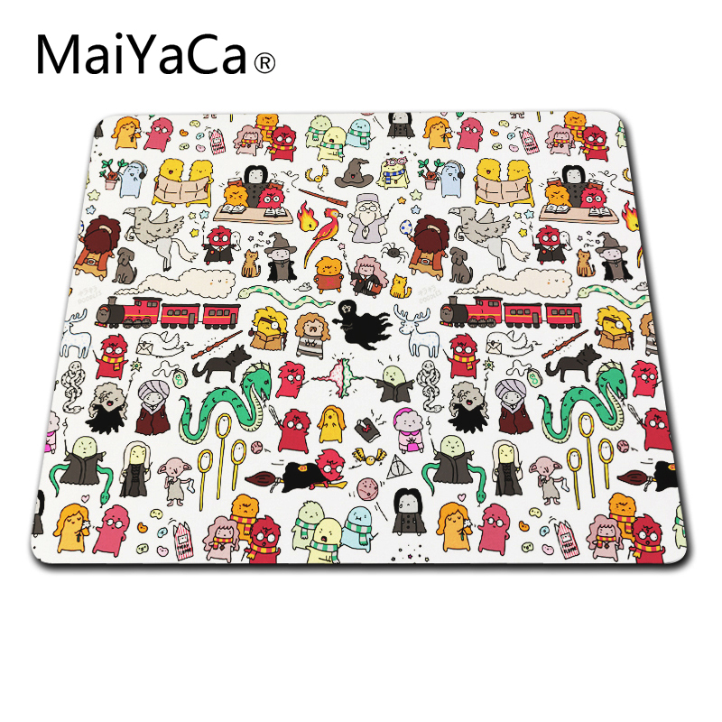 MaiYaCa New Arrivals Kawaii Unique design Doodle mouse mat league of legends Mouse pads rubber pad overlock edge Size 20x25cm