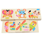 3D Puzzle Wooden Toys Animal Puzzles Jigsaw Wooden Educational Toy Cartoon Intelligence Game For Kids Children