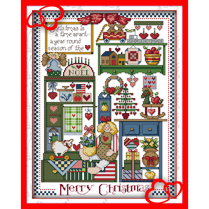 Everlasting love Christmas gift Ecological cotton Chinese cross stitch kits counted stamped 14CT and new year sales Promotions