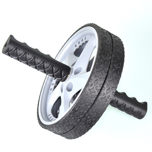Free shipping!Double-wheeled fitness A.b Rollers abdominal wheel roller fitness equipment home AB wheels