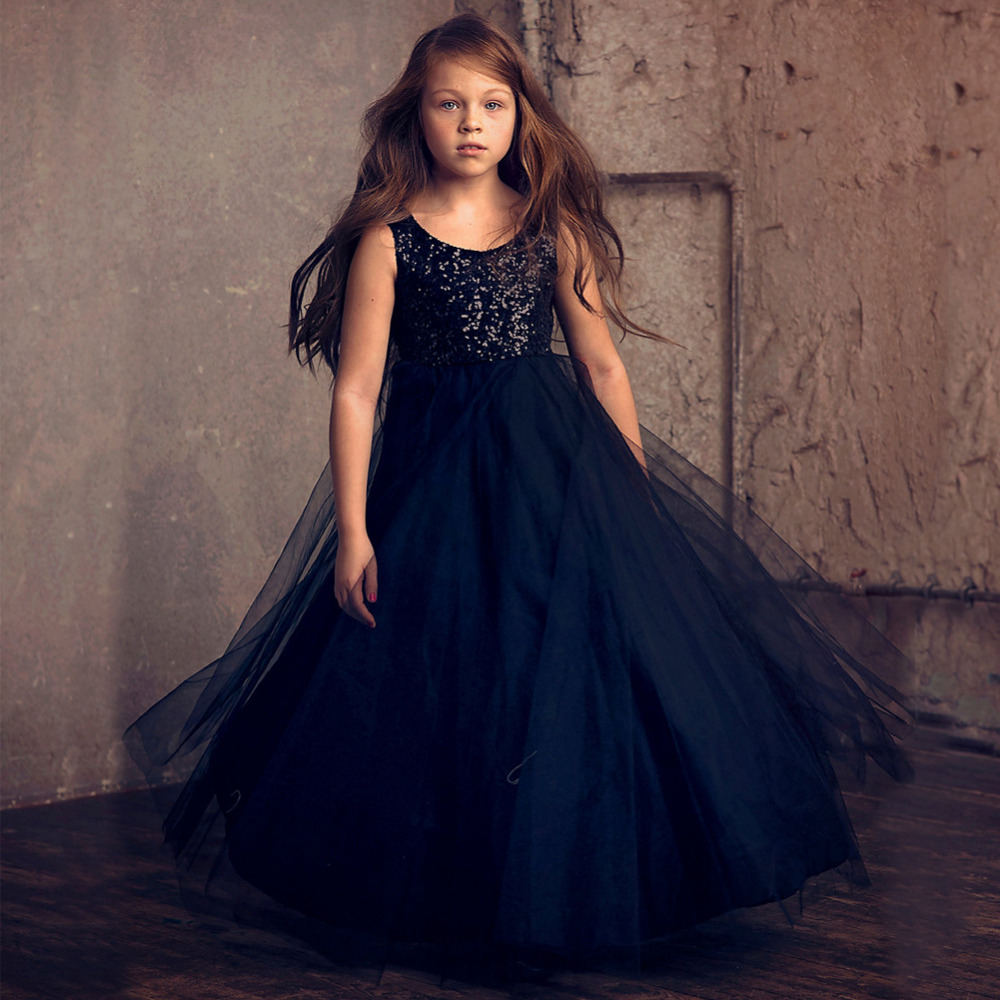 Sequins First Communion Dresses For Girl Tulle flower Toddler Pageant Flower Girl Dress for Mother Daughter Dresses for Girls sleeveless pageant dresses for girls tulle flower girl dress for weddings sequined girls pageant dresses mother daughter dresses