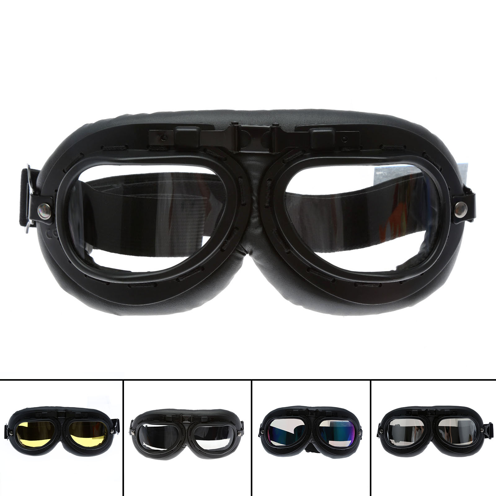 Motorcycle Bike Bicycle Skiing Goggles Motocorss Outdoor Sports Snowboard Glasses Helmet Protective Eyewear Anti UV Cafe Racer