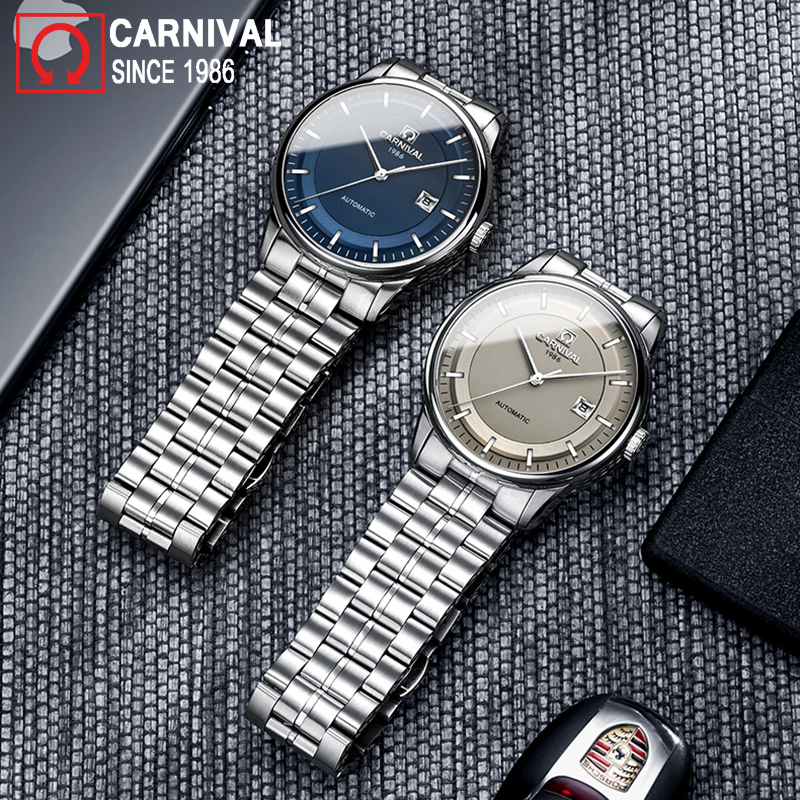 Carnival Automatic Watch Men Stainless Steel Mechanical Watches Miyota Movement Mens Clock Waterproof Wristwatch montre homme mechanical watch seiko mineral business stainless steel automatic waterproof watch men fashion watches quality clock wristwatch page 5
