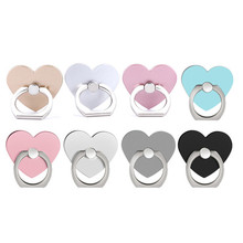 New 360 Degree Heart Shaped Mobile Phone Finger Ring Smartphone Stand Holder For iPhone 7 iPad2