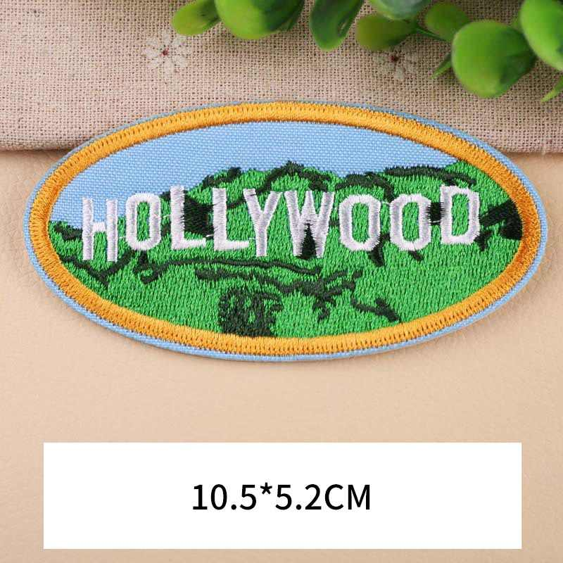PGY 1 قطعة عالية الجودة هوليوود الضرب العارض المطرزة بقع للملابس DIY المشارب الملابس ملصقات نجوم شارات