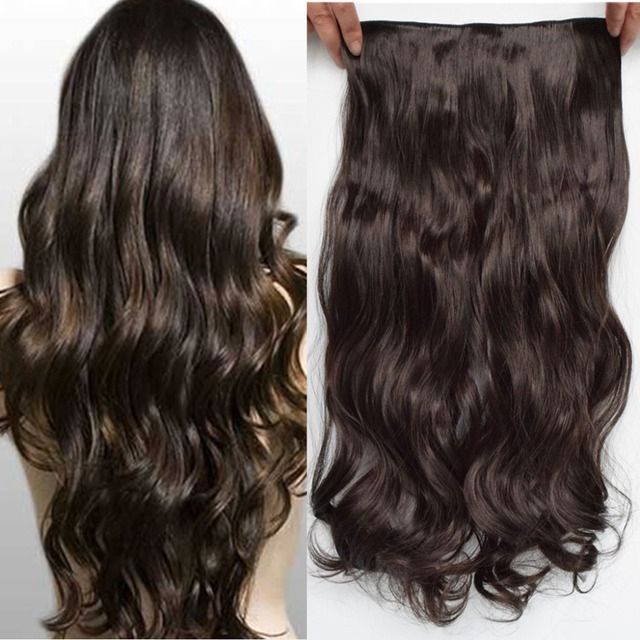 Free Shipping Long 24 Inch Synthetic Clip In Hair Extensions High