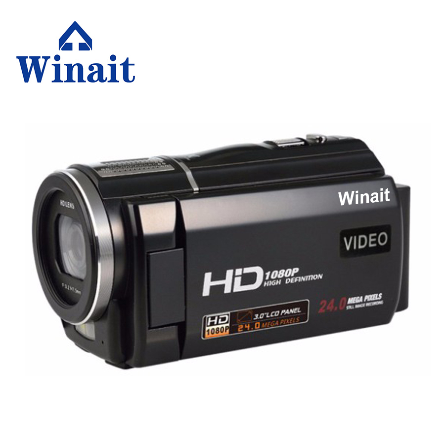 2017 1080P HD Denifition Camcorder , 3.0''Inch 24MP Digital Video Camera With 16X Digital Zoom 1500AMH Battery HDV-F5 Free Ship