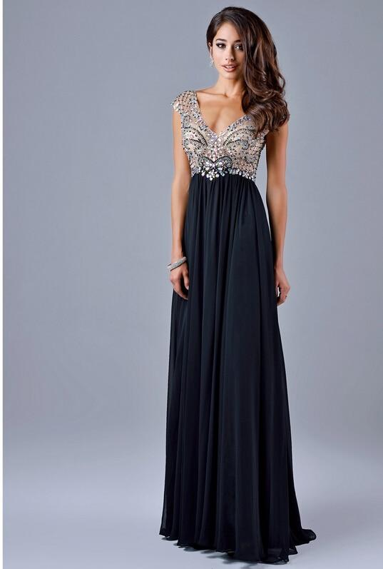Black Empire Waist Evening Gown Promotion-Shop for Promotional ...