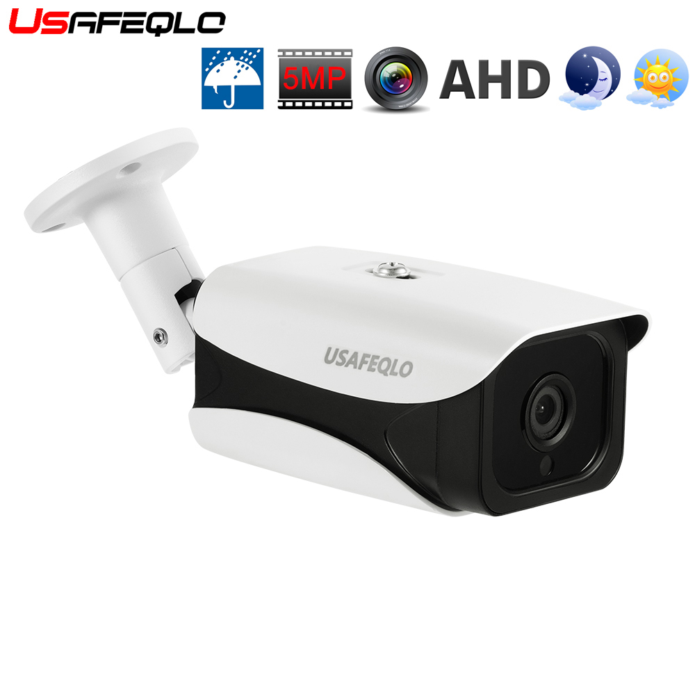 USAFEQLO 5MP AHD Camera With SONY IMX335 Bullet Security Video Surveillance Camera 2.8 3.6 6mm Lens 6 Array Infrared Led