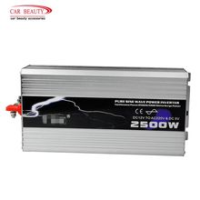 Power-Inverter Sine-Wave AC Solar 220V 12V Pure TO USB 2500W DC Peak