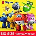 Com caixa 15 cm ABS Super Asas Deformação Robô Avião Transformação brinquedos para o presente da criança Brinquedos Figuras de Ação Super Asa