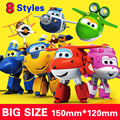 Con caja de 15 cm ABS Avión Alas Súper Deformación Robot Figuras de Acción Súper Ala Transformación juguetes para niños Brinquedos regalo