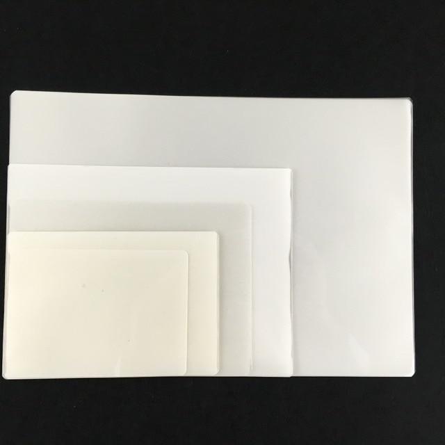 US $6 2 |100pcs 0 1mm plastic transparent 3inches laminating film id card  photo protective heat laminate film overlay card film on Aliexpress com |