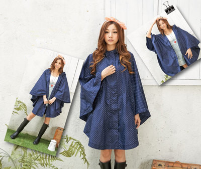 Fashion Women EVA Spotted Raincoat Poncho Dress Portable Light Rain Wear NOT Disposable Rain Coat For Adult
