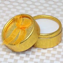 Free shipping 35*53mm gold yellow 10pcs wholesale charms jewelry gifts boxes for rings earrings pendant pins packaging B2844