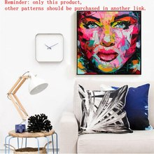 Wall Painting Abstract  Face Nielly Francoise For Home Decoration oil Canvas Custom