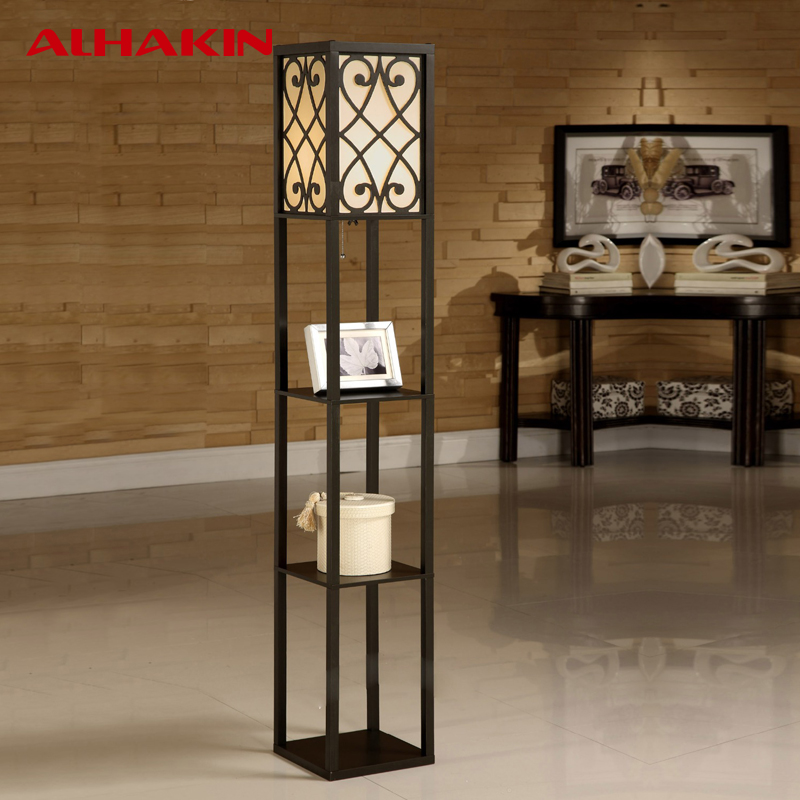 living room standing lamps, ALHAKIN Chinese Style Floor Lamp Lamparas De Pie Wooden