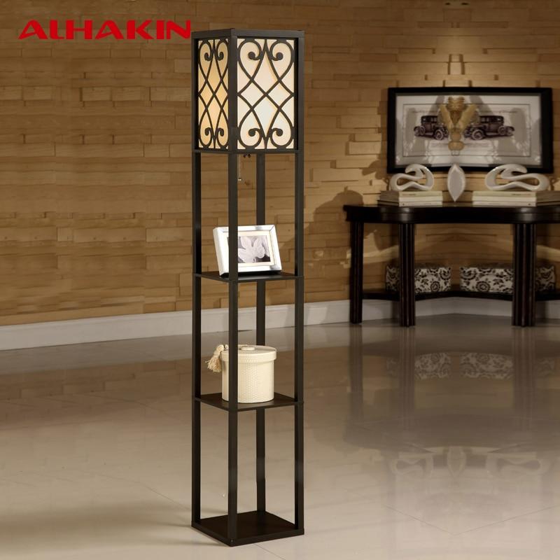 ALHAKIN Chinese Style Floor Lamp Lamparas De Pie Wooden ...