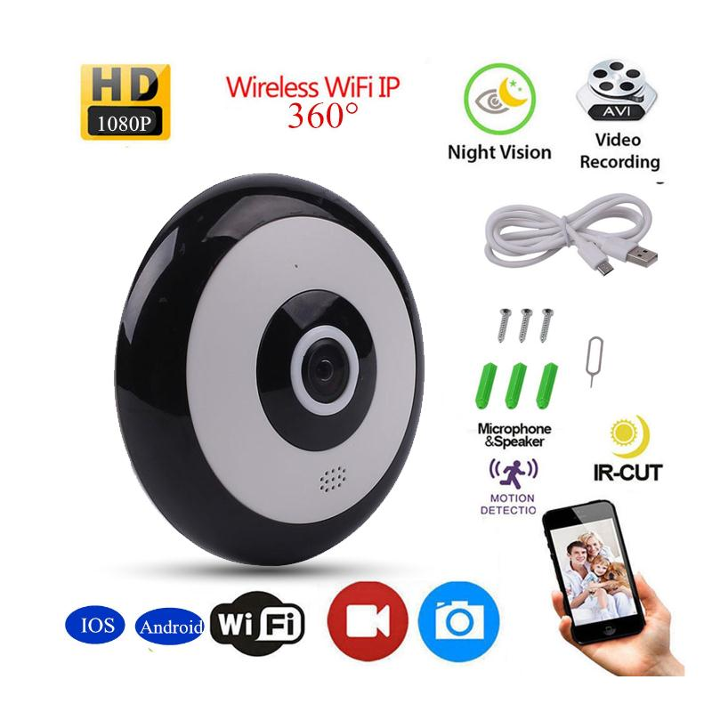 1.3MP Mini HD Panoramic 360 wifi Camera Fish Eye Lens VR Video Camera for Smartphone USB wireless ip camera 360 camera hd panoramic mini camera wide dual angle fish eye lens action camera 3040 1520 usb sport