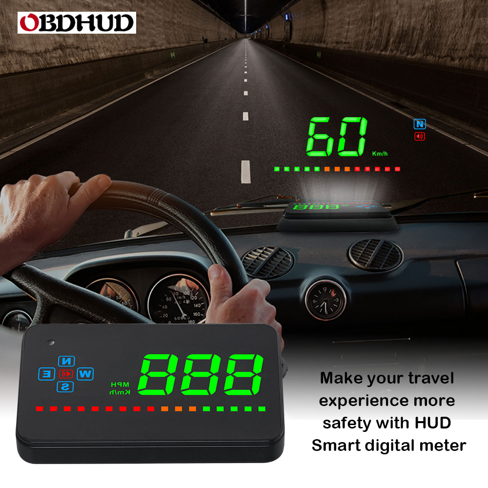 Genuine OBDHUD A2 GPS Head Up Display Windshield Projector Universal Digital Speedometer For Car-in Head-up Display from Automobiles & Motorcycles