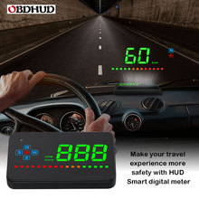 Genuine OBDHUD A2 GPS Head Up Display Windshield Projector Universal Digital Speedometer For Car autool x30 hud obd 2 head up display car gps speedometer headup obd2 projector headup smart digital auto universal display meter