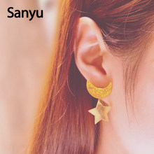 Anime Sailor Moon Acrylic Stud Earrings Star and Moon Bling Yellow Color Acrylic Earring Studs for Women Girl Cute Jewelry Gifts(China)