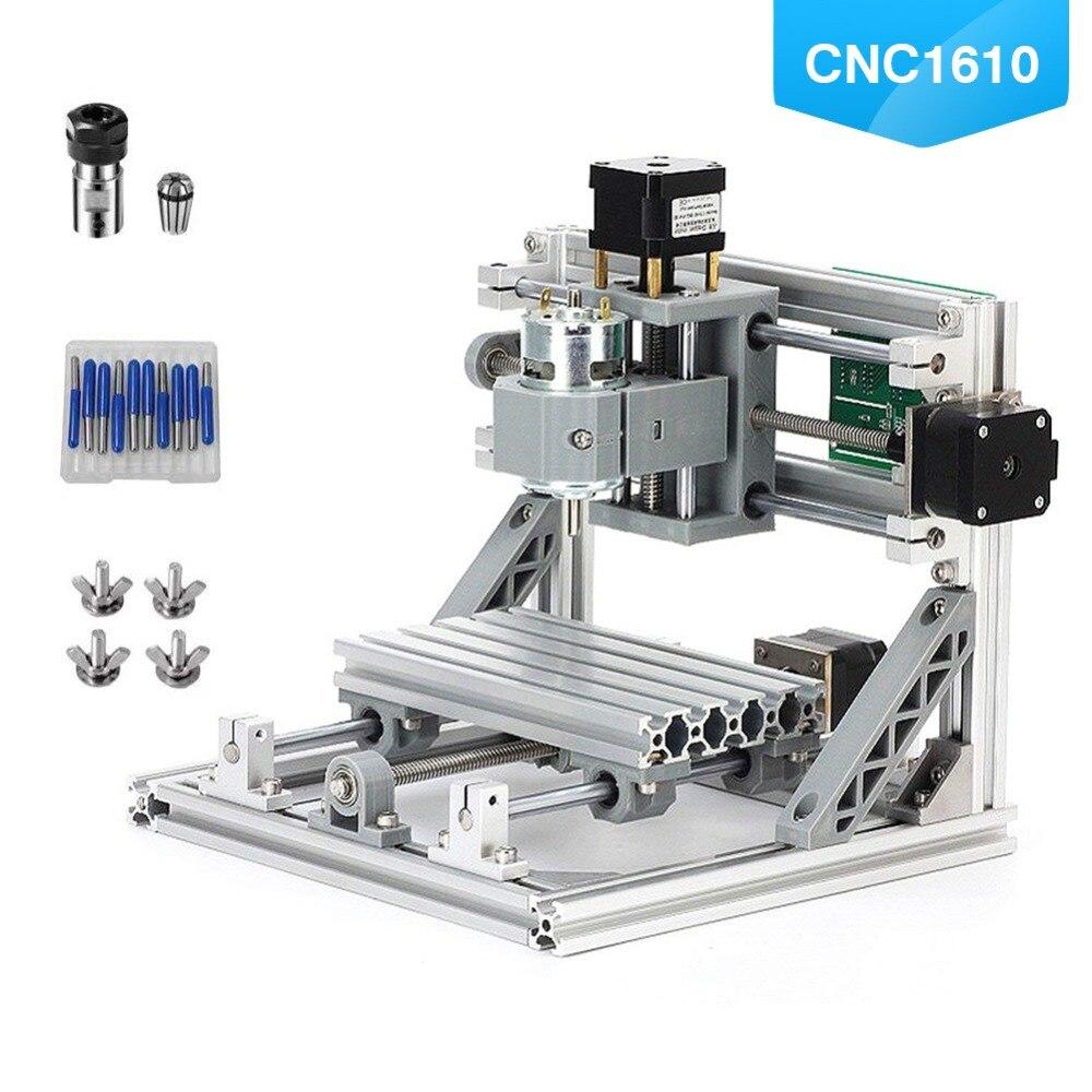 CNC 1610 Mini CNC Machine de gravure Laser bricolage avec ER11 Pcb Machine à griller bois sculpture routeur GRBL contrôle CNC Table de routeur