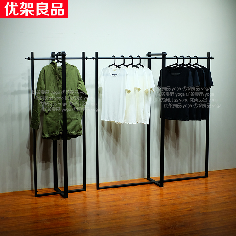 Iron clothing clothing store display shelf hanger floor boutique display rack shelf vintage clothes Island стоимость