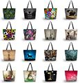 2016 Foldable Tote Women Shopping Bag Tote Shoulder Bag Lady Handbag Pouch Zipper Closure Pocket Carry Bag SB-0909