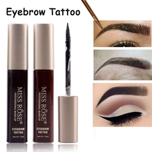 все цены на MISS ROSE Brand Waterproof Liquid Henna Eyebrow Gel Pigments Eyebrow Enhancers Black Brown Color Eye Brow Tattoo Tint Makeup