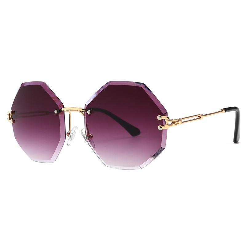 Retro Rimless Sunglasses Women Luxury Brand Designers Vintage for Sun Glasses Lady Eyewear  UV400