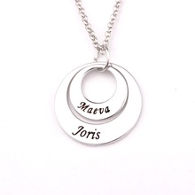 Personality Disc Necklace AliExpress Best Selling Simple Long Jewelry Custom Made Any Name YP2739