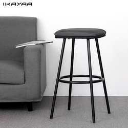 IKAYAA 2 шт. современные металлические Барные табуреты с подножкой счетчик паб стул мягкий сиденье Кухня стулья дома Мебель для баров нам DE со