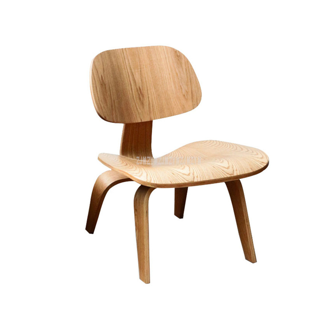 Single Living Room Lounge Chair With Wood 4 Legs Natural Full Wood Home Furniture Wooden Small Simple Low Chair With Backrest 4