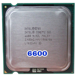 Original INTEL Core 2 Duo E6600 Socket LGA 775 CPU (procesador de 2,4 Ghz/4 M/1066 MHz), 65W