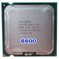 Originale INTEL Core 2 Duo E6600 Socket LGA 775 CPU Processore (2.4 Ghz/4 M/1066 MHz) 65W