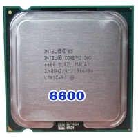 Processeur d'unité centrale d'origine INTEL Core 2 Duo E6600 Socket LGA 775 (2.4 Ghz/4 M/1066 MHz) 65W