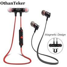 Bluetooth Earphones Wireless Magnetic Earphones Sports Stereo Earbuds Noise Reduction Earphones with Microphone Headsfree